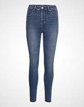 Abercrombie & Fitch High Rise Jean Legging Skinny Jeans Blå ABERCROMBIE & FITCH