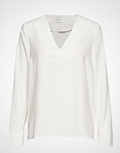 Vila Vilaia L/S V-Neck Top - Noos T-shirts & Tops Long-sleeved Hvit VILA