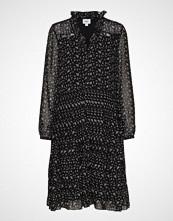 Saint Tropez U6036, Woven Shirt Dress On Knee Knelang Kjole Svart SAINT TROPEZ