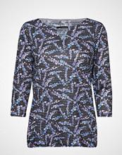 Gerry Weber Edition T-Shirt 3/4-Sleeve R T-shirts & Tops Long-sleeved Blå GERRY WEBER EDITION