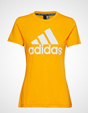 Adidas Performance W Mh Bos Tee T-shirts & Tops Short-sleeved Gul ADIDAS PERFORMANCE