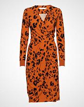 InWear Imeldaiw Wrap Dress Knelang Kjole Oransje INWEAR