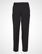 Calvin Klein Elastic Back Wb Pant Bukser Med Rette Ben Svart CALVIN KLEIN