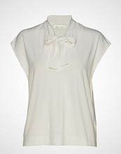 InWear Yamini Tie_neck Top Bluse Kortermet Creme INWEAR