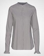 Mos Mosh Mattie Stripe Shirt Langermet Skjorte Blå MOS MOSH