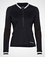 Skins Activewear Holm Womens Training L/S Fleece 1/2 Zip T-shirts & Tops Long-sleeved Svart SKINS