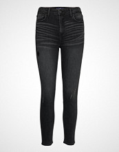 Hollister High Rise Super Skinny Crop Skinny Jeans Svart HOLLISTER
