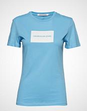 Calvin Klein Institutional Box Re T-shirts & Tops Short-sleeved Blå CALVIN KLEIN JEANS