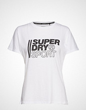 Superdry Core Sport Graphic Tee T-shirts & Tops Short-sleeved Hvit SUPERDRY