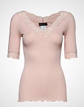 Rosemunde Silk T-Shirt Regular Ss W/Lace T-shirts & Tops Short-sleeved Rosa ROSEMUNDE
