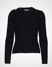 Ganni Cotton Knit Pullover Strikket Genser Svart GANNI