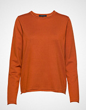 Soft Rebels Zara O-Neck Knit Roll Edge Strikket Genser Oransje SOFT REBELS