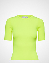 Mango Fluor Ribbed Top T-shirts & Tops Short-sleeved Gul MANGO