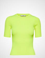 Mango Fluor Ribbed Top T-shirts & Tops Short-sleeved Gul MANGO