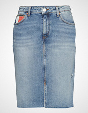Tommy Jeans Tjw Denim Long Skirt Knelangt Skjørt Blå TOMMY JEANS