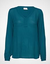 Kaffe Amber L/S Blouse- Min 2 T-shirts & Tops Long-sleeved Blå KAFFE