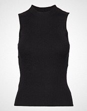 Mango Ribbed Top T-shirts & Tops Sleeveless Svart MANGO