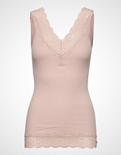 Rosemunde Organic Top V-Neck Regular W/Lace T-shirts & Tops Sleeveless Rosa ROSEMUNDE