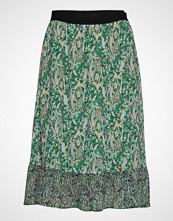 Saint Tropez U8030, Woven Skirt Bellow Knee Knelangt Skjørt Grønn SAINT TROPEZ