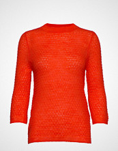 Mango Open-Knit Sweater Strikket Genser Oransje MANGO