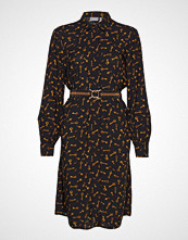 B.Young Byfriche Print Shirt Dress - Knelang Kjole Brun B.YOUNG