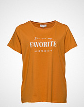 Only Carmakoma Carpetra Ss Tee T-shirts & Tops Short-sleeved Oransje ONLY CARMAKOMA