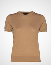 Theory Basic Tee P.Regal Wo T-shirts & Tops Short-sleeved Beige THEORY