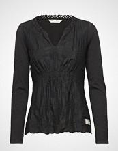 Odd Molly Leaving Happier Top T-shirts & Tops Long-sleeved Svart ODD MOLLY