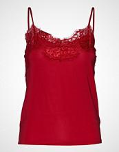 Soaked in Luxury Sl Clara Singlet T-shirts & Tops Sleeveless Rød SOAKED IN LUXURY