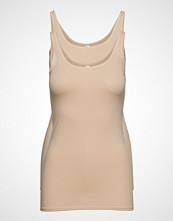 Schiesser Top T-shirts & Tops Sleeveless Creme SCHIESSER