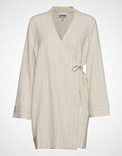 Ganni Heavy Crepe Blazer Dress Kort Kjole Creme GANNI