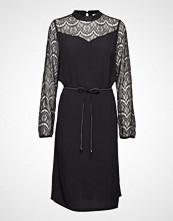 Saint Tropez U6037, Dress Woven On Knee Knelang Kjole Svart SAINT TROPEZ