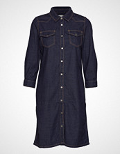 Minus Lau Denim Dress Knelang Kjole Blå MINUS