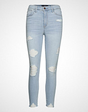 Hollister High Rise Super Skinny Crop Skinny Jeans Blå HOLLISTER