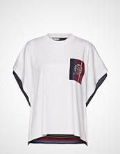Hilfiger Collection Hcw Foulard Tshirt, T-shirts & Tops Short-sleeved Hvit HILFIGER COLLECTION