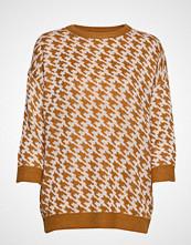 Saint Tropez U2509, Knit Jumper 3/4 Sleeve Strikket Genser Brun SAINT TROPEZ