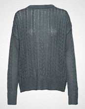 Soft Rebels Calby O-Neck Knit Strikket Genser Blå SOFT REBELS