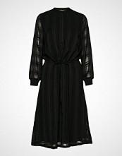 Bruuns Bazaar Freya Elin Long Dress Knelang Kjole Svart BRUUNS BAZAAR