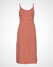Hollister Twistback Midi Dress Knelang Kjole Rosa HOLLISTER