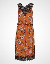 Rosemunde Dress Knelang Kjole Oransje ROSEMUNDE