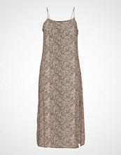 Mango Leopard Print Dress Knelang Kjole Beige MANGO