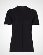 Ganni Light Stretch Jersey T-shirts & Tops Short-sleeved Svart GANNI