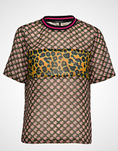 Scotch & Soda Mix Print Top With Rib Detail T-shirts & Tops Short-sleeved Multi/mønstret SCOTCH & SODA
