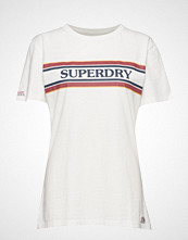 Superdry Vintage Text Graphic Tee T-shirts & Tops Short-sleeved Hvit SUPERDRY