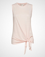 Banana Republic Linen Tie-Front Tank Top T-shirts & Tops Sleeveless Rosa BANANA REPUBLIC