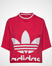 Adidas Originals Cropped Tee T-shirts & Tops Short-sleeved Rød ADIDAS ORIGINALS