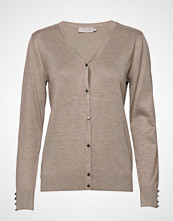 Brandtex Cardigan-Knit Light Strikkegenser Cardigan Beige BRANDTEX
