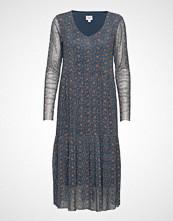 Saint Tropez U6503, Jersey Dress L/S Knelang Kjole Blå SAINT TROPEZ