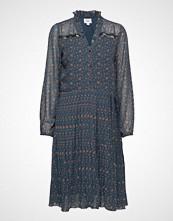 Saint Tropez U6036, Woven Shirt Dress On Knee Knelang Kjole Blå SAINT TROPEZ