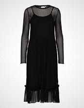 Saint Tropez T6551, Striped Lace Dress Knelang Kjole Svart SAINT TROPEZ